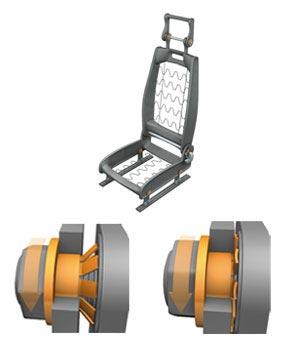 汽车座椅下面结构图解