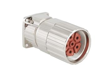 Standard connector, series B, M23 standard feed-through with coupling nut
