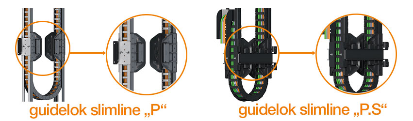 "guidelok 超薄型""P""和""P. S"":完全由塑料制成"